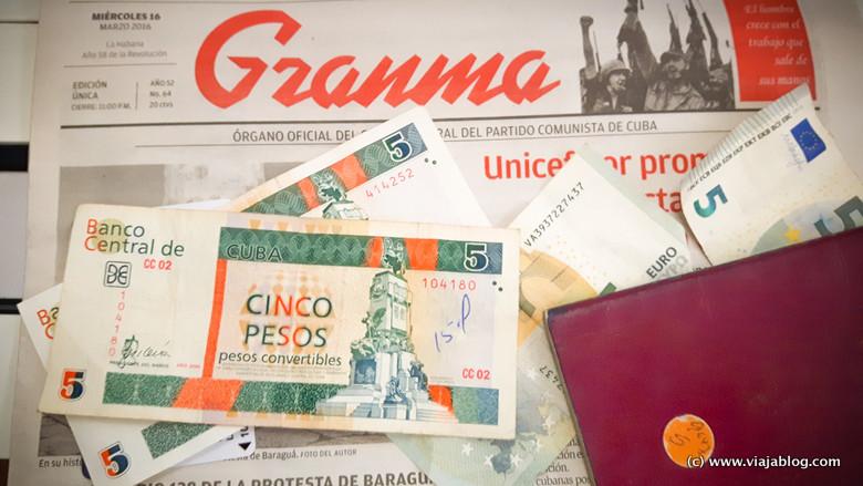 Pesos cubanos convertibles cambiados en La Habana
