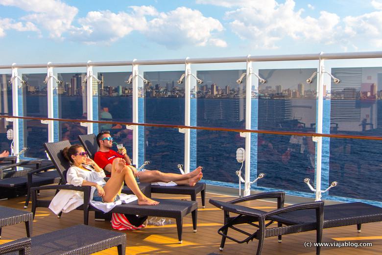 La exclusiva Cubierta 13 en el Crucero por el Cáribe MSC Opera