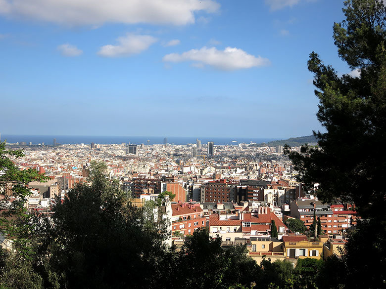 Vistas a Barcelona desde el mirador del Putxet