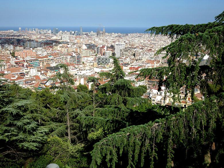 Vistas a Barcelona desde el Turó del Putxet
