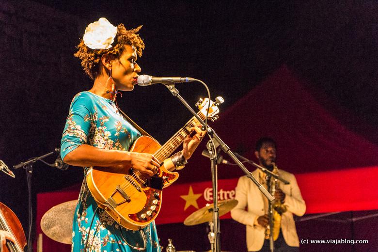 Carmen Souza en concierto en Costa Brava