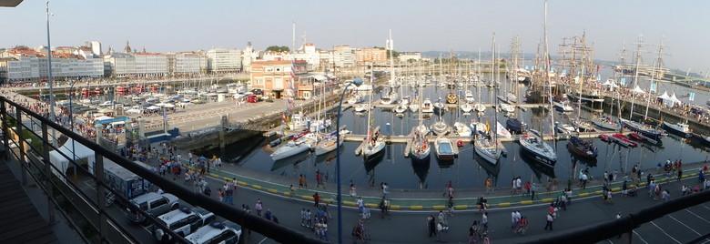 Panorámica puerto Coruña Tall Ships Races