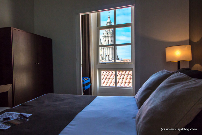 Catedral de Santiago desde habitación Hotel Carris Casa de Troya, Santiago de Compostela