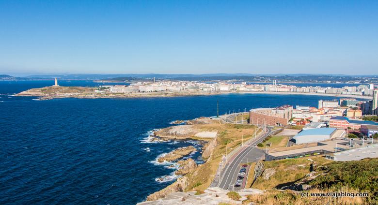 Vista parcial de la Coruña