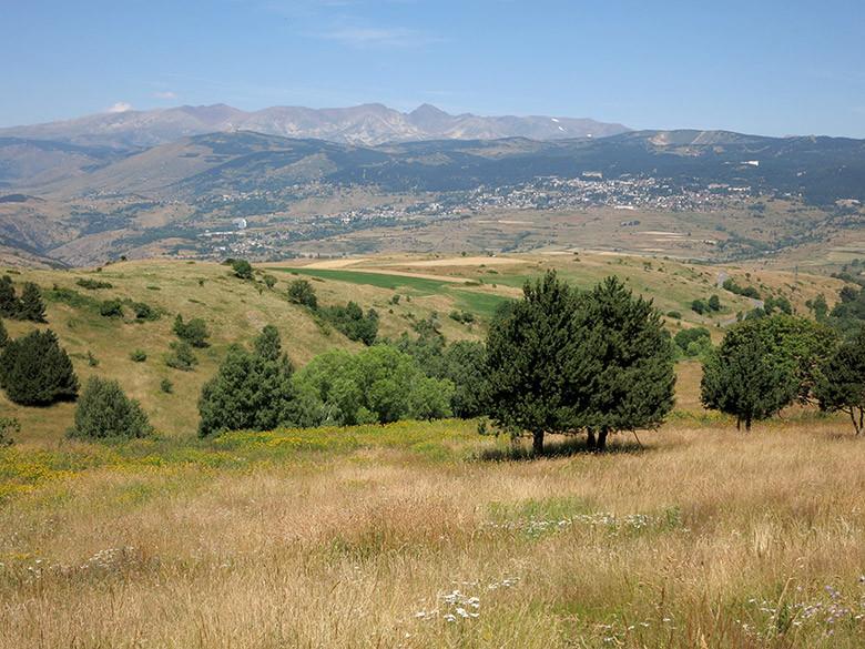 Vistas al norte con el pico de Carlit de fondo
