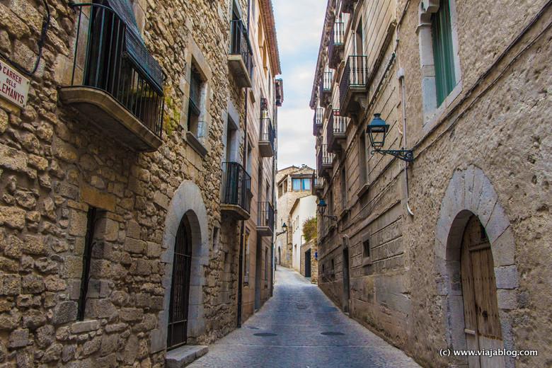 Calles medievales en Gerona