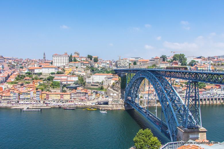 Oporto, el Puente Don Luis y el Río Duero
