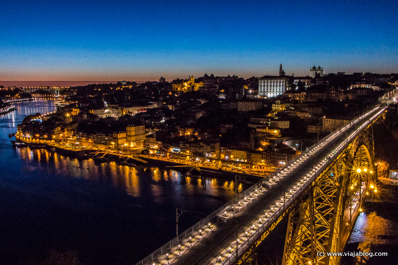 Oporto al atardecer, Portugal