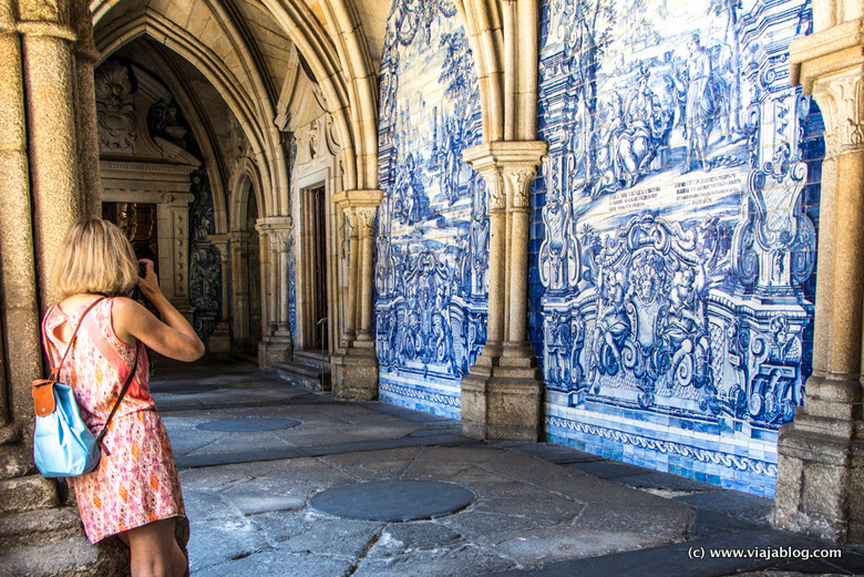 Claustro de la Catedral de Oporto, Portugal