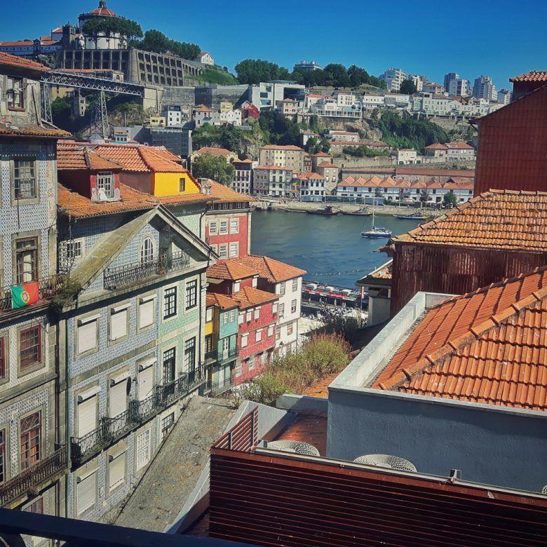 Vistas desde la habitación, Hotel Carris Porto Ribeira, Oporto, Portugal