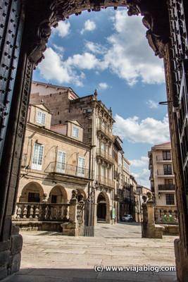 Plaza del Trigo desde Catedral de Orense, Galicia