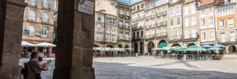 Plaza Mayor, Orense, Galicia