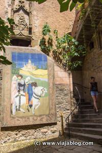 Patio Interior, Museo Castillo Gala Dali, Pubol, Gerona