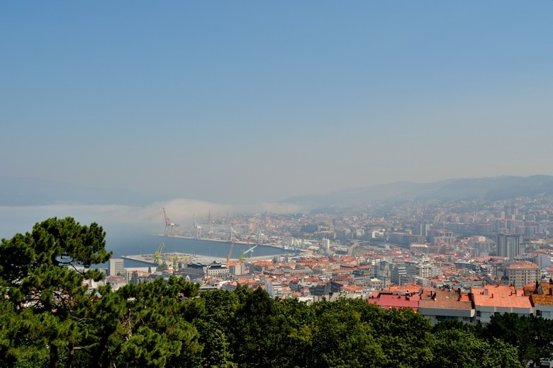 Vistas de Vigo desde el mirador del Monte O Castro, Galicia