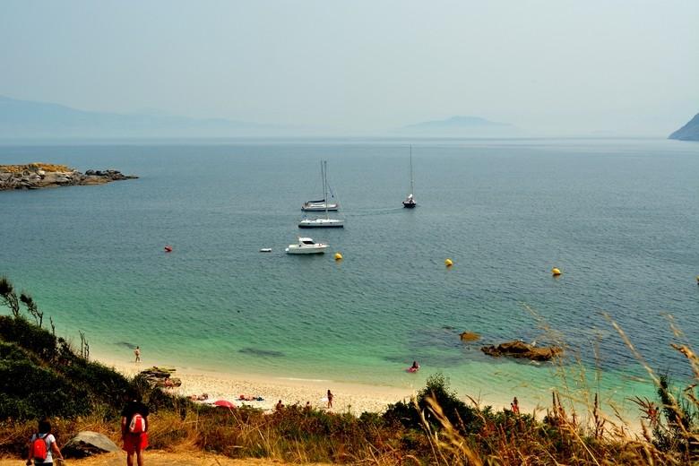 Vistas desde las Islas Cíes, Vigo, Galicia