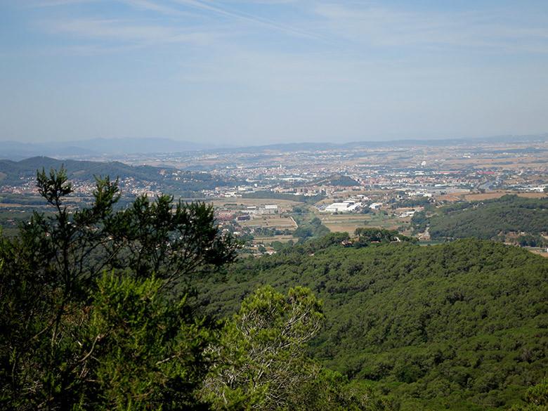 Vistas al Vallés desde el Turó de Céllecs