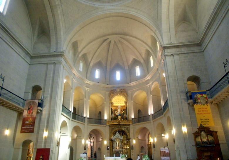 El interior de la Concatedral de Alicante