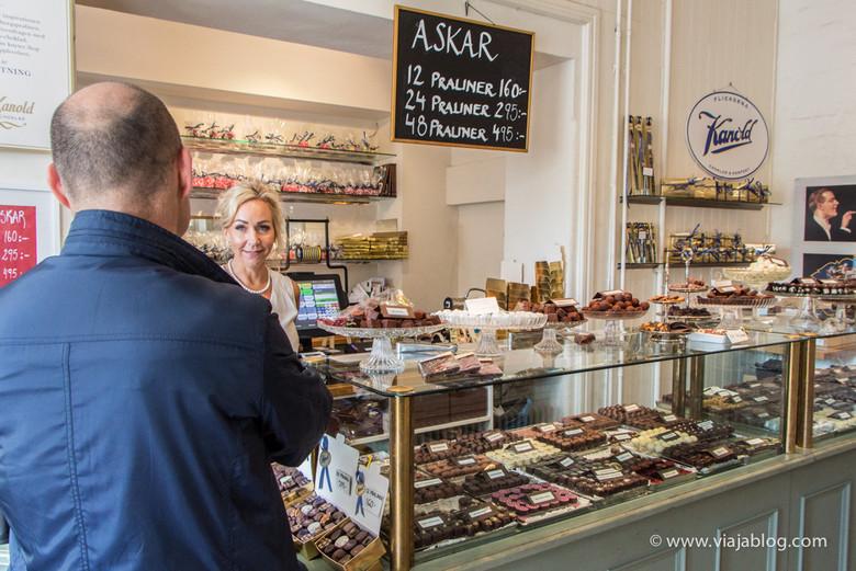 Jeanna Kannold en la pastelería de su familia, tour gastronómico, Gotemburgo, Suecia