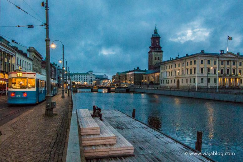 En el centro-derecha de la imagen, el Museo de Gotemburgo, Suecia