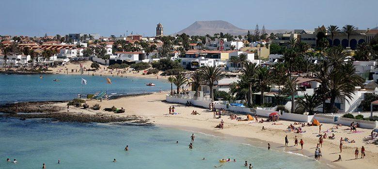 La playa del centro de Corralejo
