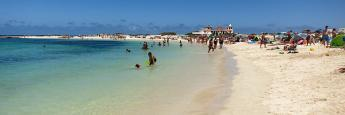 La playa de La Concha en El Cotillo, al noroeste de la isla