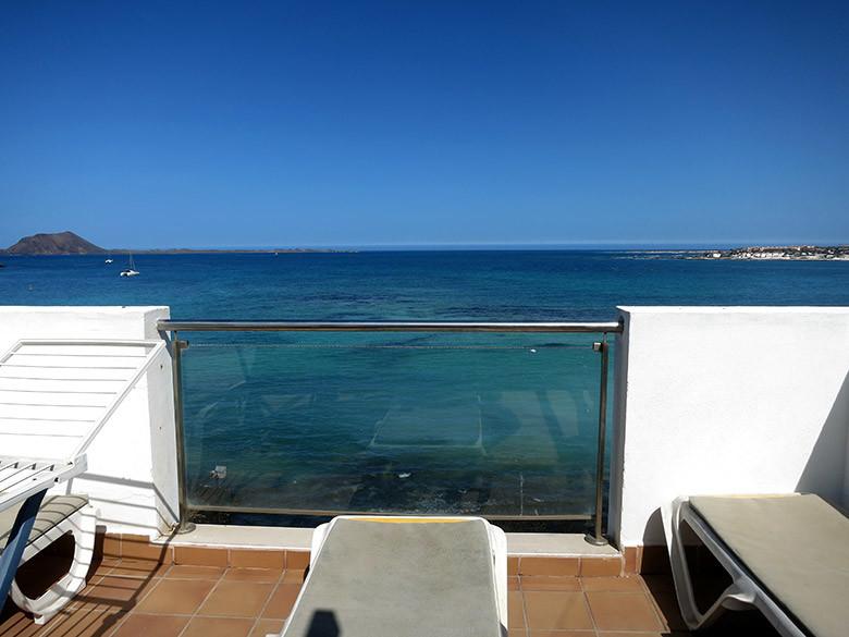 Vistas desde la terraza de nuestro apartamento en Corralejo
