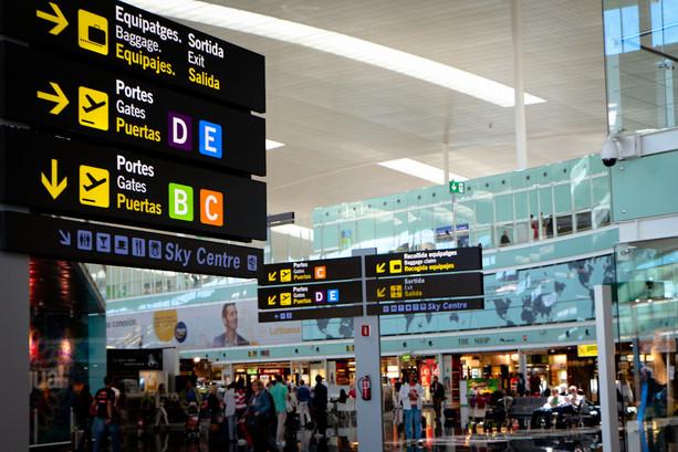 Lado Aire Terminal Aeropuerto Barcelona El Prat