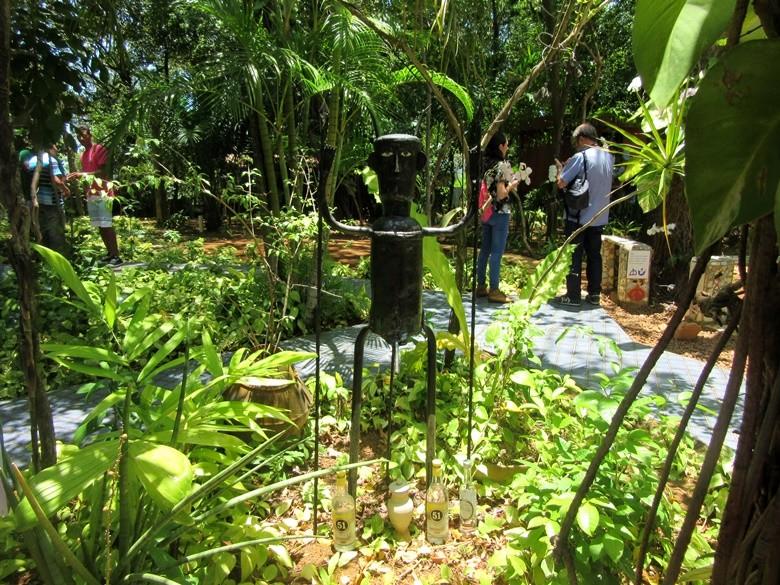 El jardín de la casa de Rio Vermelho