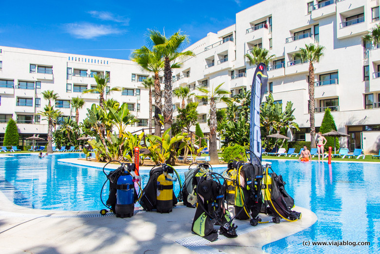 Bautismo de buceo, Hotel ADH Isla Cristina, Huelva