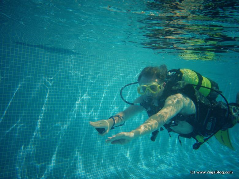 Buceo en piscina, Hotel ADH Isla Cristina, Huelva