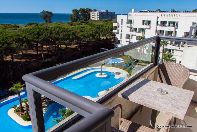 Terraza Habitación Hotel ADH Isla Cristina, Huelva