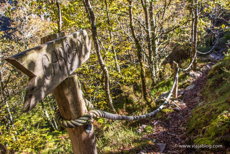Señalización Ruta Cascadas del Cioyo en Asturias