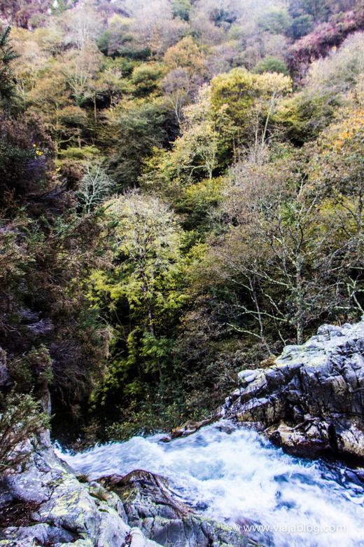 Lo máximo que recomiendo acercarse a la parte superior de la cascada del Cioyo en Asturias