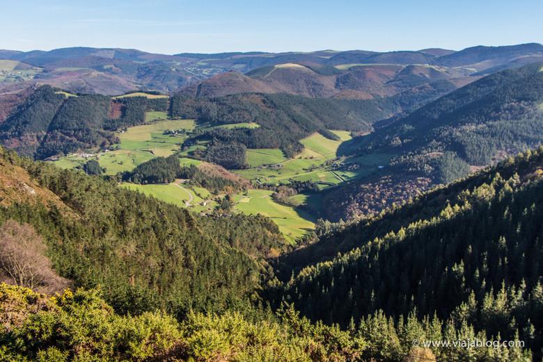 Paisajes de Asturias de regreso de la Ruta Cascadas del Cioyo en Asturias