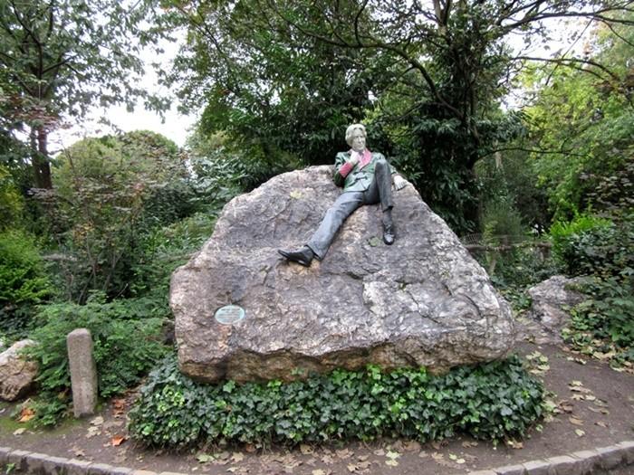 Oscar Wilde en Merrion Square, Dublín, Irlanda