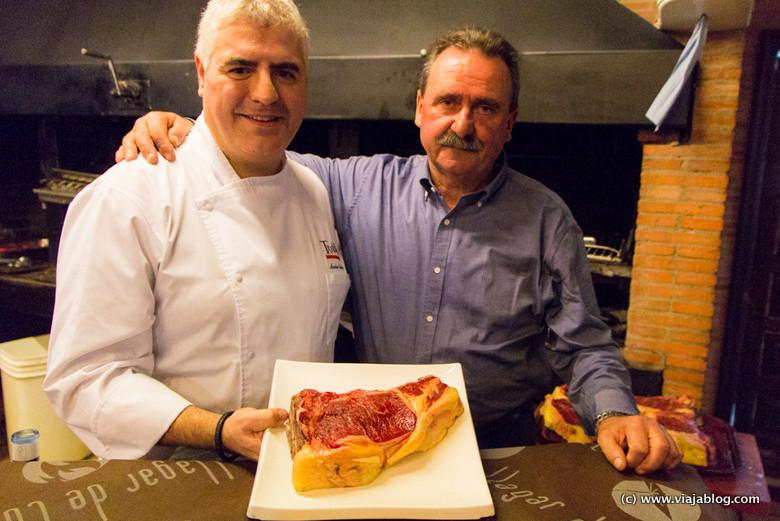 Ander Esarte (Bar Restaurante Txuleta, San Sebastián) y Jose Manuel Suarez (Ganaderia Bueyes Cabrero), el Llagar de Colloto, Asturias