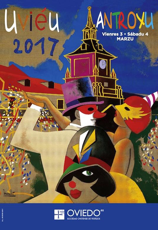 Cartel Antroxu (Carnaval) Oviedo