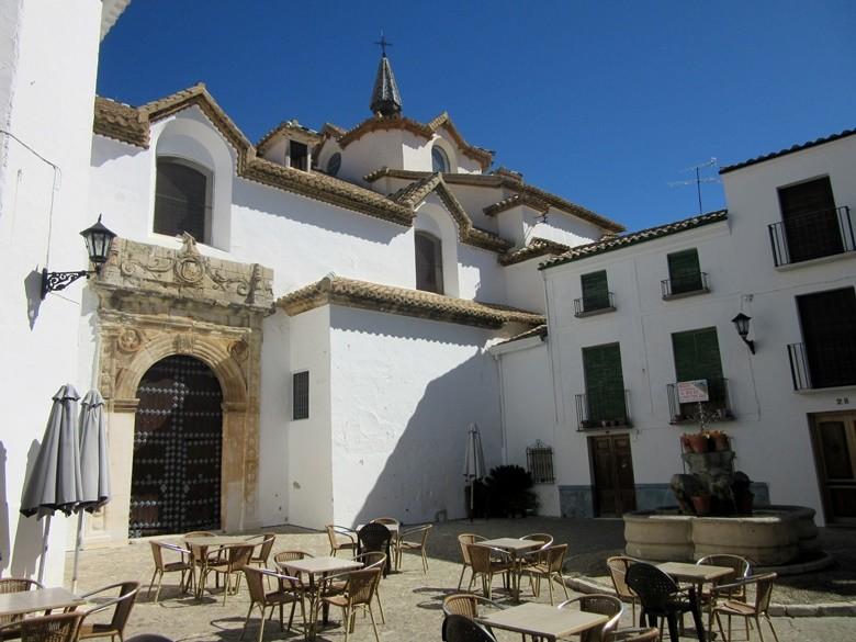 plaza en el barrio de la Villa de Priego de Córdoba