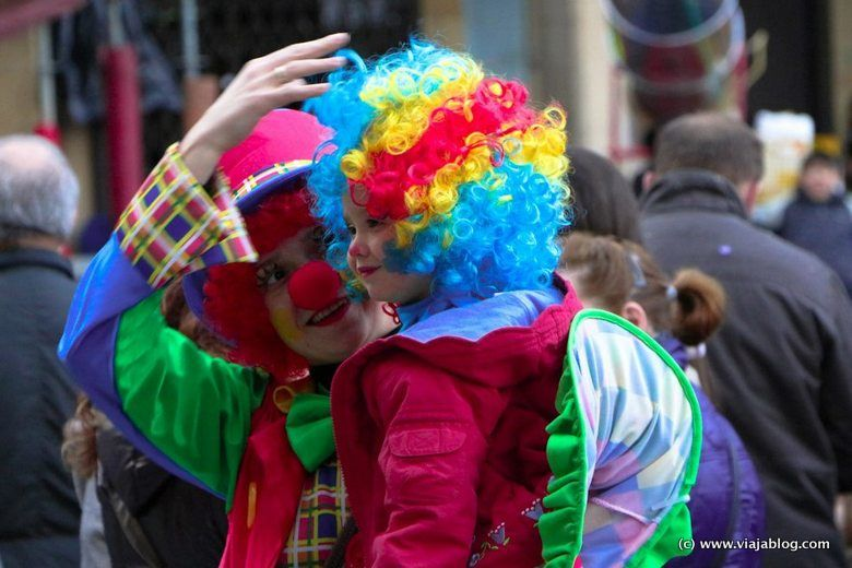 Disfraz de payasos, Carnaval (Antroxu) en Asturias
