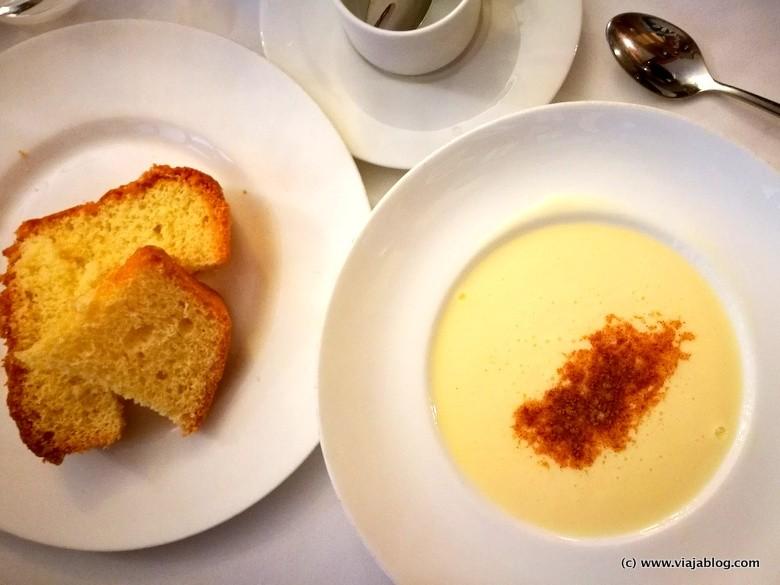 Natillas con bizcocho, Restaurante El Astorgano, Madrid