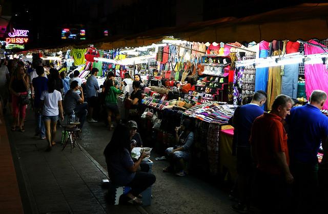 Mercado de Patpong, Bangkok, Tailandia