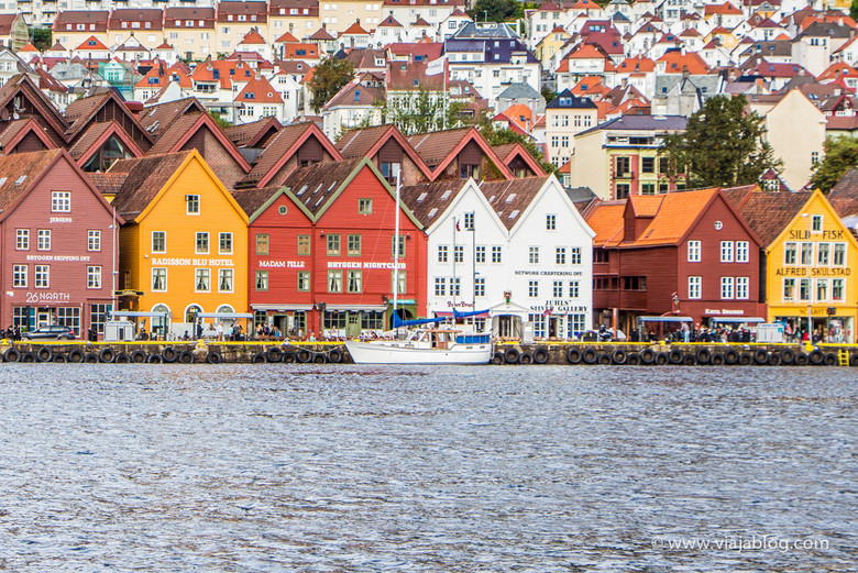 Edificios de la Liga Hanseática en Bryggen, Bergen, Noruega