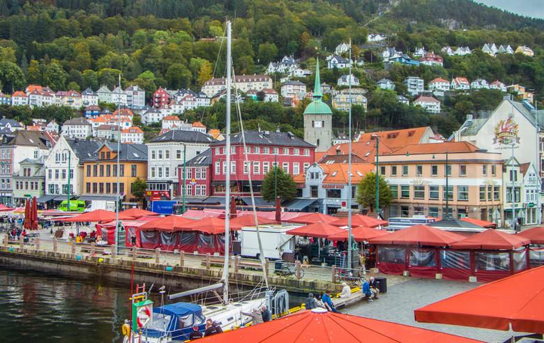 Fisketorget, Mercado de Pescado, Bergen, Noruega