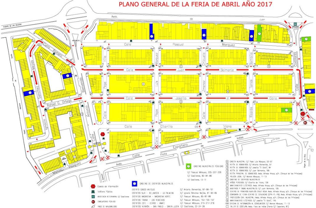 Plano de la Feria de Abril Sevilla 2017