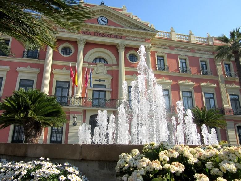 Fachada del Ayuntamiento de Murcia