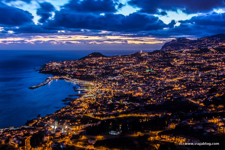 Funchal al atardecer, Madeira