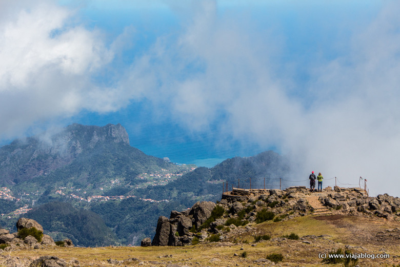 Mirador entre las nubes. Isla de Madeira