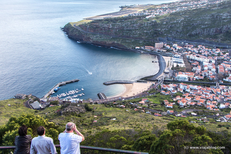 Miradouro do Senhor dos Milagres, Machico y Aeropuerto de Madeira