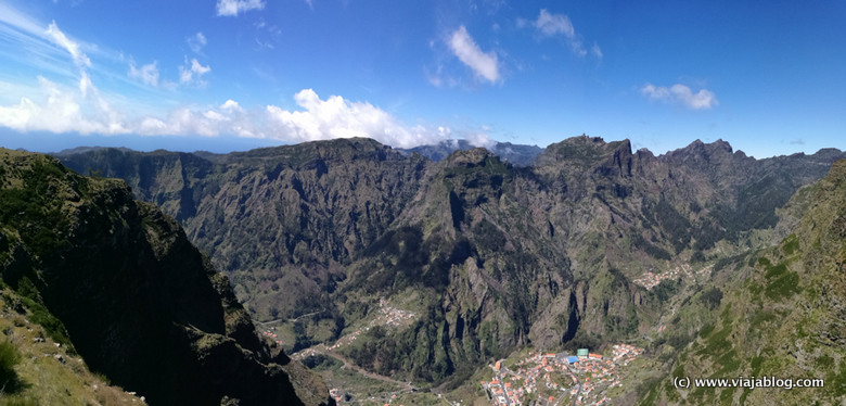 Panorámica Eira do Serrado y Curral das Freiras, Isla de Madeira