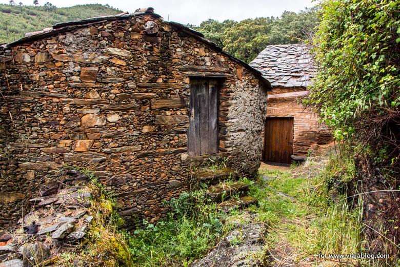 Casas de pizarra, Las Hurdes, Cáceres, Extremadura